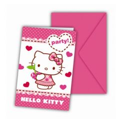 Cartons d'Invitation Hello Kitty