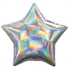 ballon-holographique-iridescent-etoile | jourdefete.com