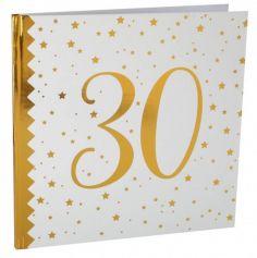Livre d'Or Anniversaire - Blanc et Or - 30 ans | jourdefete.com