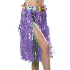 Jupe Hawaïenne Violet 80 cm