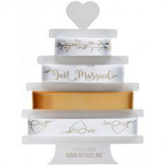 "4 Rubans Autocollants ""Just Married"" - Or | jourdefete.com"