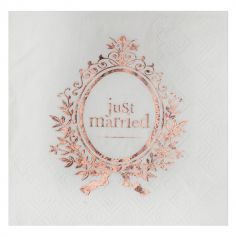 serviette-just-married-rose-gold|jourdefete.com