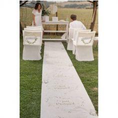 """Tapis de Cérémonie """"Just Married"""" - Or"""