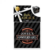 boite cadeau noire joyeux anniversaire petit modèle | jourdefete.com