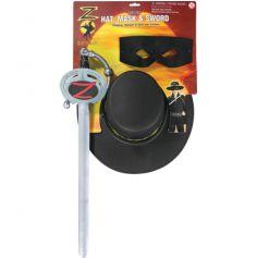 Kit Déguisement Zorro licence Enfant