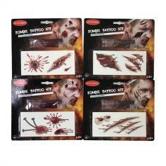 Kit de Tatouages Zombie - Modèle au Choix