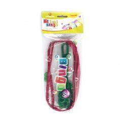 Kit 3 en 1 Bingo - Trousse + 1 bâton magnétique + 100 Pions - Vert