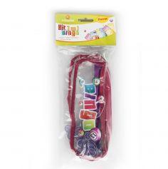 Kit 3 en 1 Bingo - Trousse + 1 bâton magnétique + 100 Pions - Violet