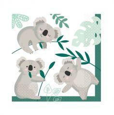 16 serviettes en papier collection koala | jourdefete.com