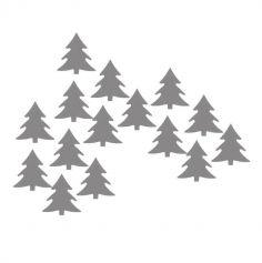 Confettis de table Noël argent - Sapin