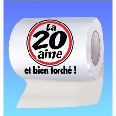 Papier toilette humoristique anniversaire : la 20 aine