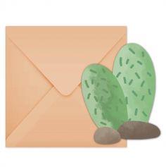 6 Enveloppes et Invitations - Lama et Cactus | jourdefete.com