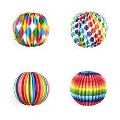 12 Lampions Multicolores Boule