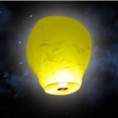 "Lanterne volante ""ballon"" - Jaune"