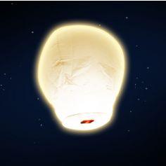 """Lanterne volante """"ballon"""" - Blanc"""