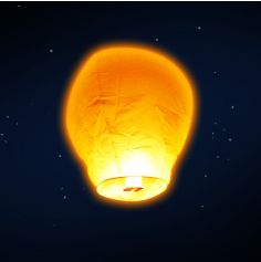 "Paquet de 5 lanternes volantes ""ballon"" - Orange"