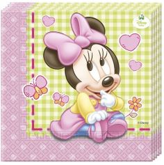 Lot de 20 Serviettes en Papier - Bébé Minnie Disney