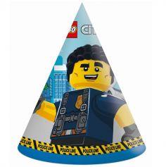 6 Chapeaux pointus en carton FSC® - Lego City™