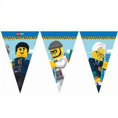 Guirlande de fanions en carton FSC® - Lego City™  - 2,3 m