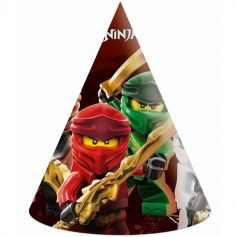 6 Chapeaux pointus en carton FSC® - Lego Ninjago™