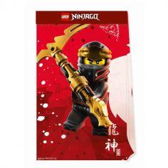 4 sacs cadeaux en papier lego ninjago | jourdefete.com