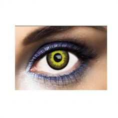"Lentilles Fantaisie "" Eclipse "" - Jaune - (Sans Correction) - 1 an"