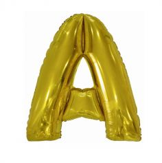 ballon geant aluminium helium lettre a 100 cm or| jourdefete.com