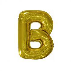 ballon geant aluminium helium lettre b 103 cm or| jourdefete.com
