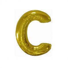 ballon geant aluminium helium lettre c 114 cm or| jourdefete.com