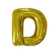 ballon geant aluminium helium lettre d 99 cm or| jourdefete.com