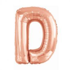 ballon aluminium helium lettre D 99 cm rose gold | jourdefete.com