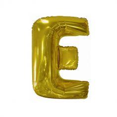 ballon geant aluminium helium lettre e 114 cm or| jourdefete.com
