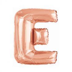 ballon aluminium helium lettre e 114 cm rose gold | jourdefete.com