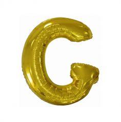 ballon geant aluminium helium lettre g 114 cm or| jourdefete.com