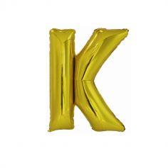 ballon geant aluminium helium lettre k 100 cm or| jourdefete.com