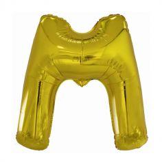 ballon geant aluminium helium lettre m 113 cm or| jourdefete.com