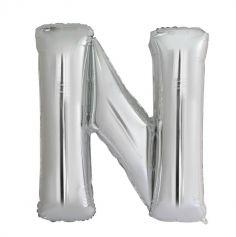 ballon aluminium helium lettre N 114 cm | jourdefete.com