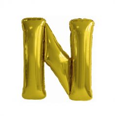 ballon geant aluminium helium lettre n 114cm or| jourdefete.com