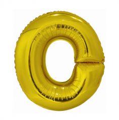 ballon geant aluminium helium lettre o 98 cm or| jourdefete.com