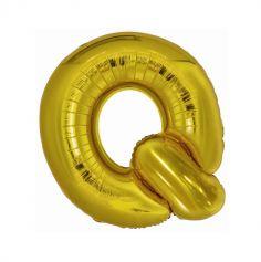 ballon geant aluminium helium lettre q 96 cm or| jourdefete.com