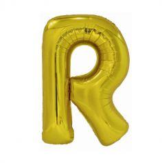 ballon geant aluminium helium lettre r 99 cm or| jourdefete.com
