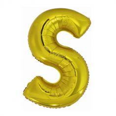 ballon geant aluminium helium lettre s 114 cm or| jourdefete.com