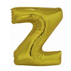 ballon geant aluminium helium lettre z 114 cm or| jourdefete.com