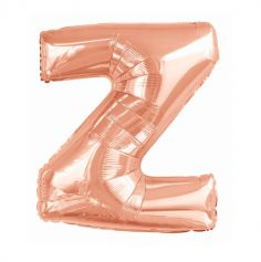 ballon aluminium helium lettre z 114 cm rose gold | jourdefete.com