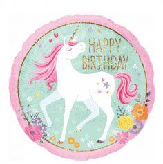 1 Ballon Licorne Magique Happy Birthday