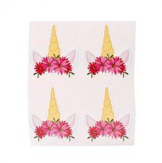 Planche de 10 stickers licorne | jourdefete.com