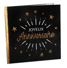 Livre d'Or Joyeux Anniversaire Étincelant - Couleur au choix