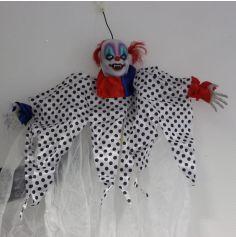 Décoration Halloween Sonore et Lumineuse - Clown Fantôme