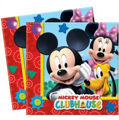 Pack de 20 serviettes Mickey Mouse ® - 33x33cm