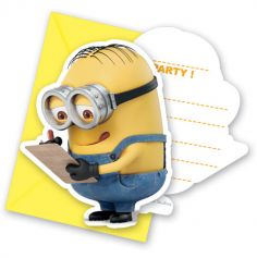 Pack de 6 cartes d'invitation Les Minions ®